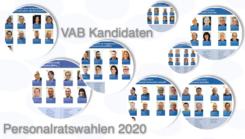 Die Flyer mit unseren VAB Kandidaten zu den Personalratswahlen 2020