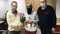 VAB Mitglied Heidrun Krieger erhält eine Ehrung für 40 Jahre Mitgliedschaft