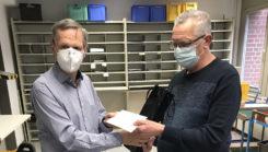 VAB Mitglied Andreas Magura erhält eine Ehrung für 40 Jahre Mitgliedschaft