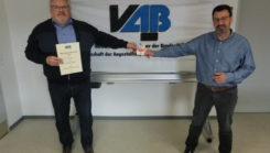 VAB Mitglied Günter Lampen erhält den 3. Preis als erfolgreicher Werber (Aktion 2020)