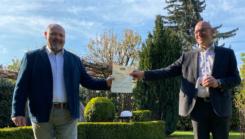 VAB Mitglied Oliver Burchardi erhält den Preis als erfolgreichster Werber (Aktion 2020)